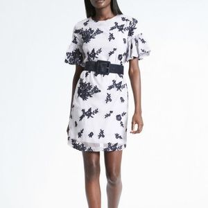 Banana Republic Embroidered Floral Dress